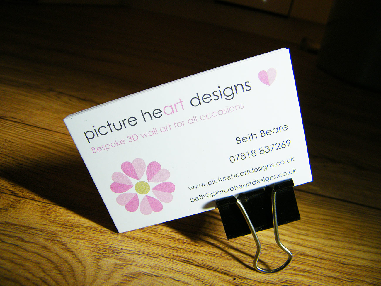 Picture Heart Designs business cards